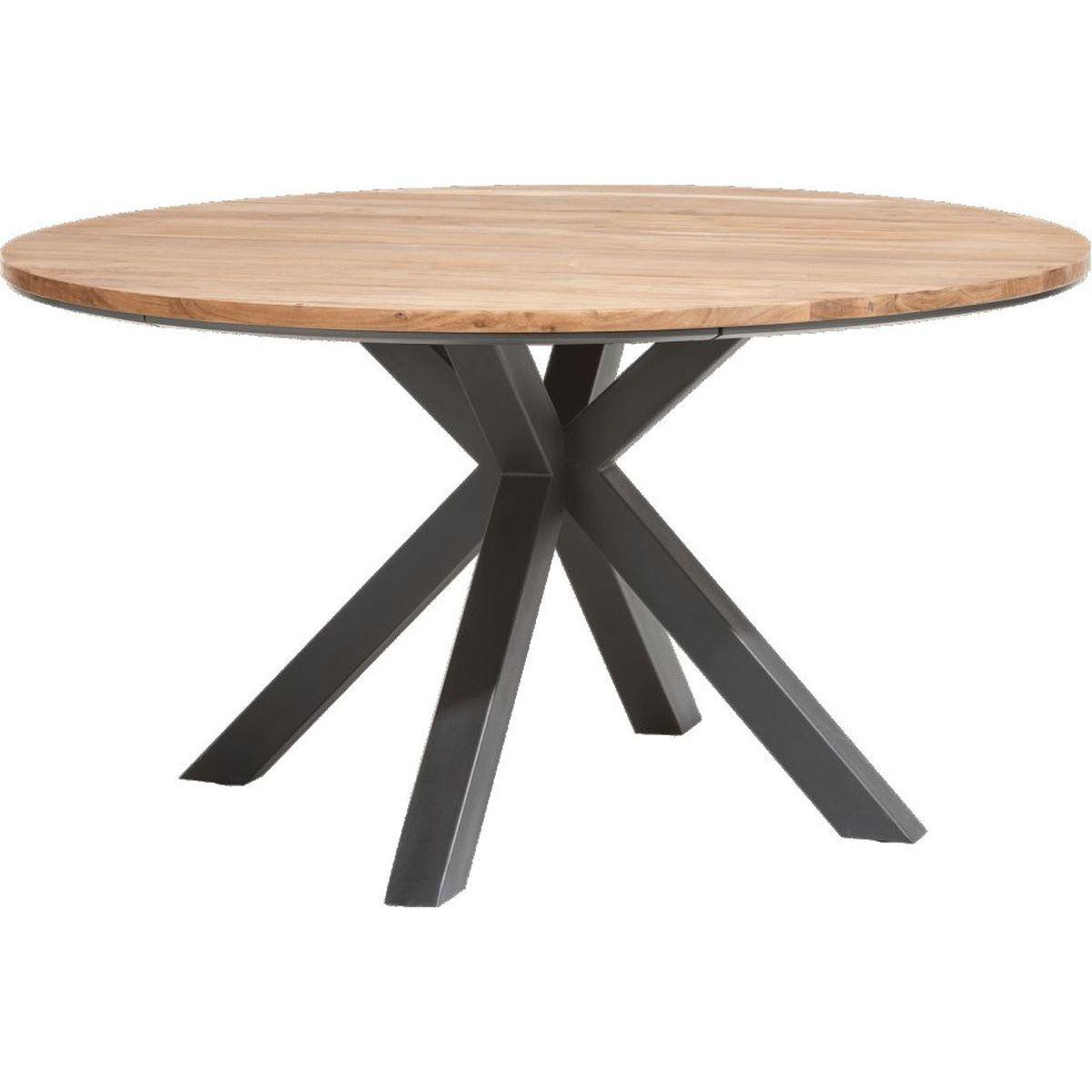Table ronde COLOMBO Xooon bois Kikar smoked 150cm