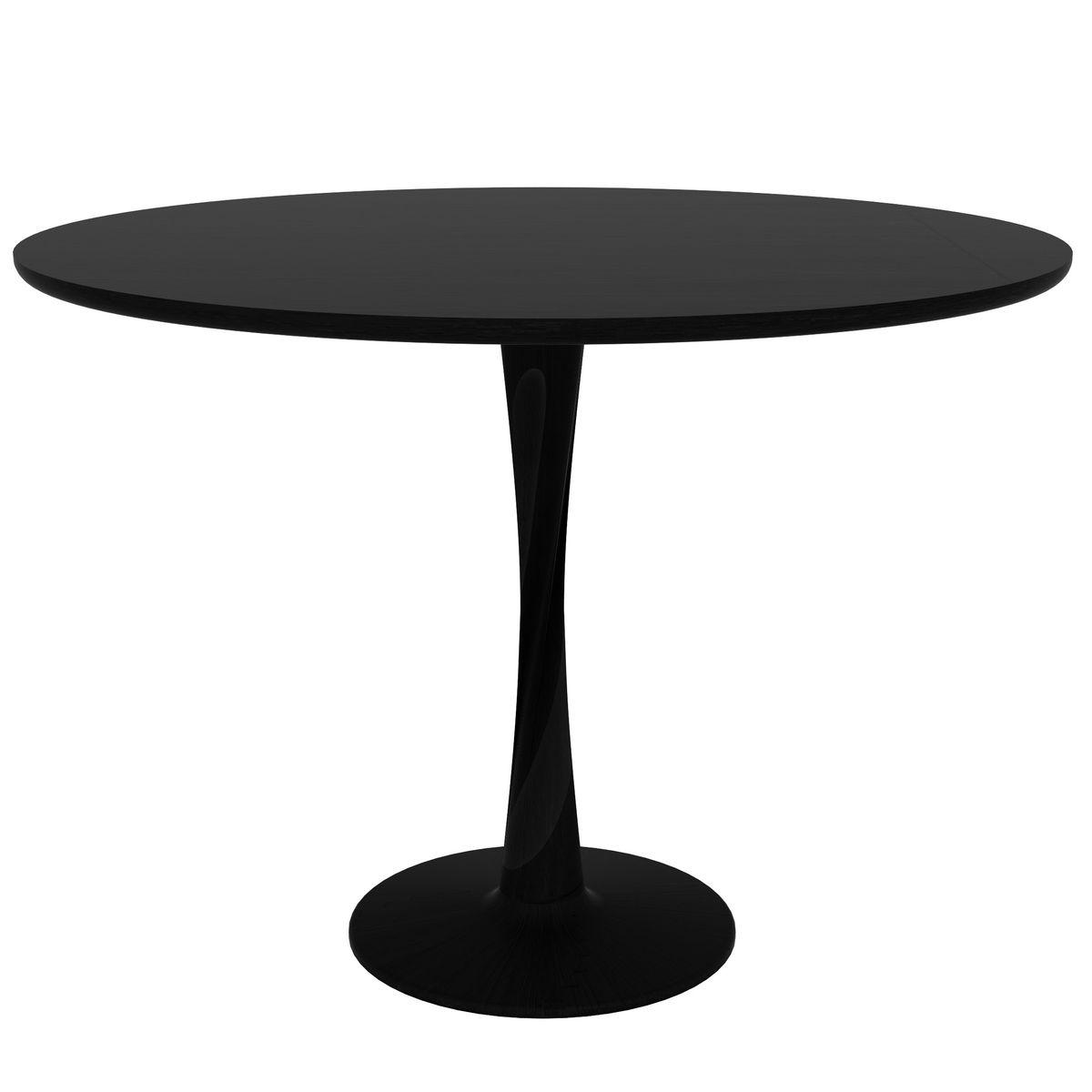 Table ronde TORSION Ethnicraft chêne teinté noir