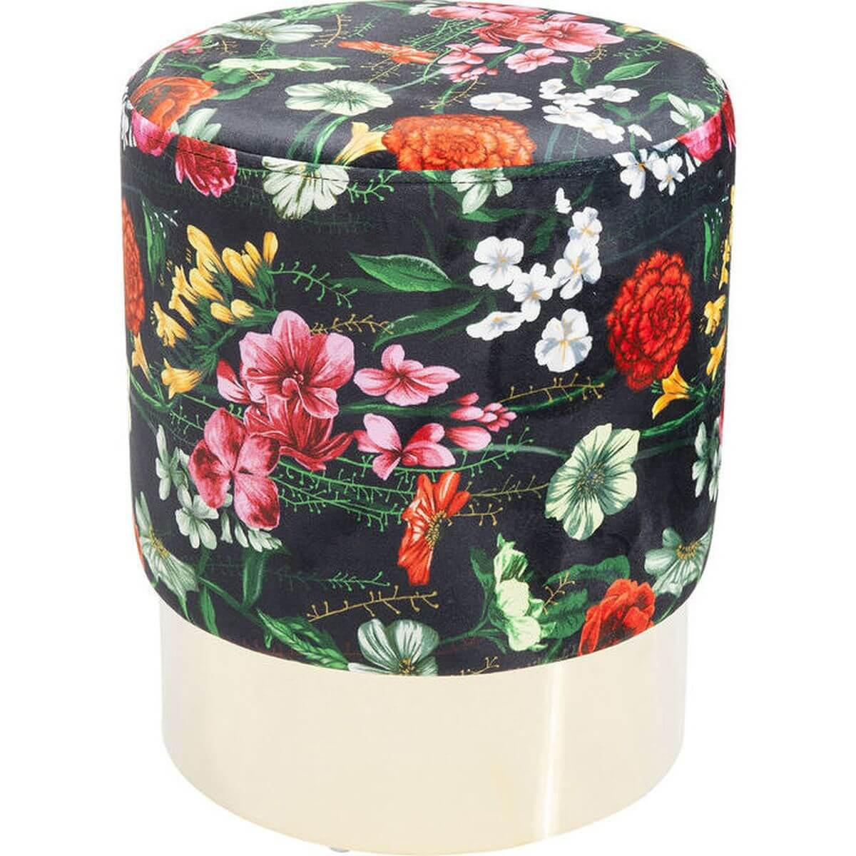 Tabouret CHERRY FLORES Kare Design laiton 35cm