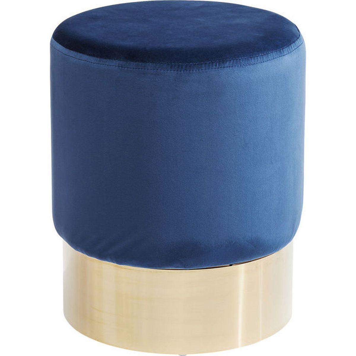 Tabouret CHERRY Kare Design bleu/laiton
