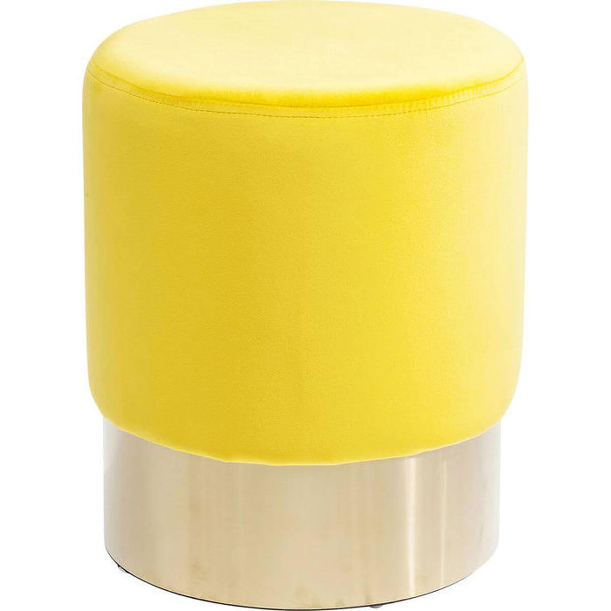 Tabouret CHERRY Kare Design jaune/laiton 35cm