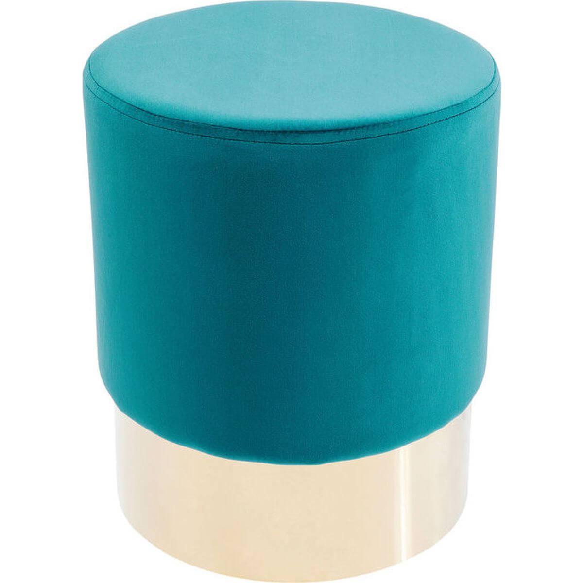 Tabouret CHERRY Kare Design pétrole/laiton 35cm